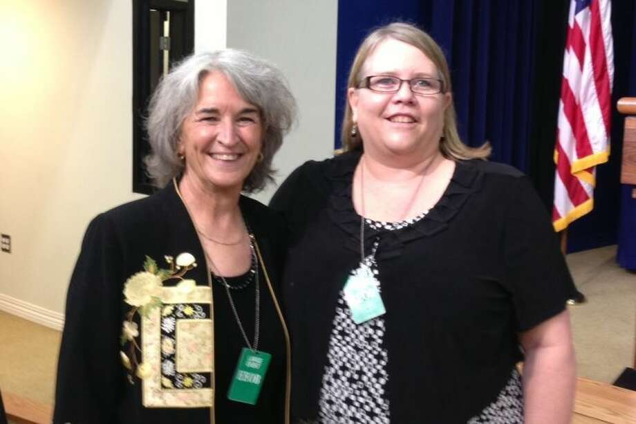 Champion of Change Citizen Scientist Sandra Henderson, left, is joined at the White House by Harris County Department of Education science specialist and nominator Lisa Felske. Felske nominated Henderson for the award for her work in bringing science into the classrooms of K-4 educators through a program called BudBurst Buddies, www.budburst.org.