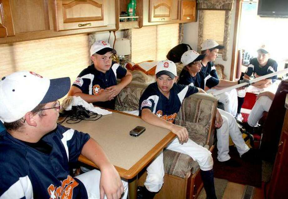 The Orange, Texas Pony 13s All-Star team traveled to town for the Coast Region Tournament in style - in an RV, owned by one of the dads. With the opportunity to watch TV or play video games, it wasn't going to be a very long trip home Sunday.