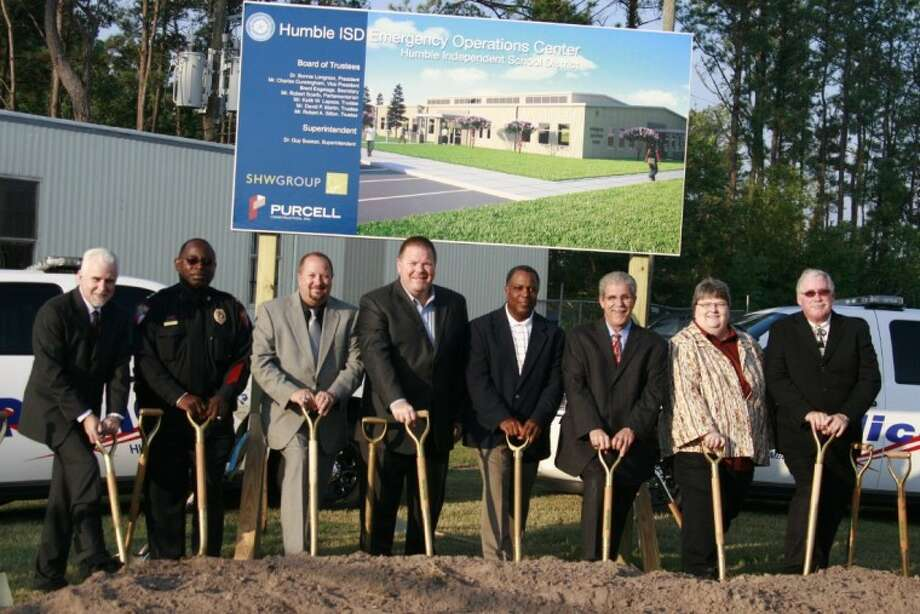 Humble ISD representatives and school board members celebrated the ground breaking of the new Emergency Operations Center Sept. 19.