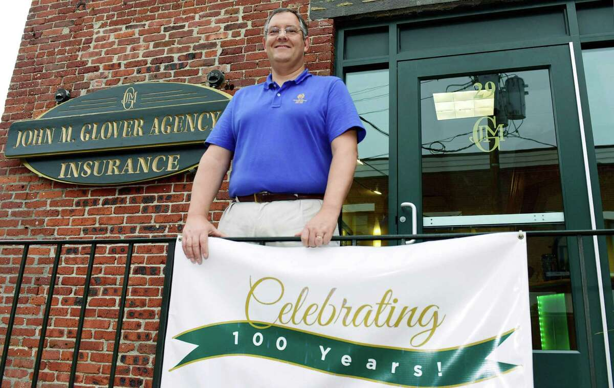 John Forlivio, CEO of the The John M. Glover Agency celebrates the company's 100th year in business Wednesday. Forlivio has owned the Norwalk-based agency since 199. The agency has 20 locations, including in Stamford, New Canaan, Ridgefield and Danbury.