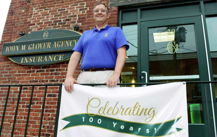 John Forlivio, CEO of the The John M. Glover Agency  celebrates the company's 100th year in business Wednesday. Forlivio has owned the Norwalk-based agency since 199. The agency has 20 locations, including in Stamford, New Canaan, Ridgefield and Danbury. Photo: Erik Trautmann / Hearst Connecticut Media / Norwalk Hour