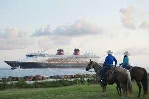 The Disney Magic arrived in Galveston Saturday.