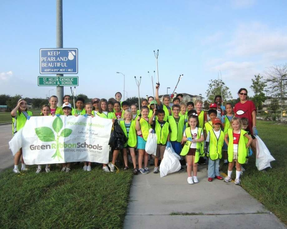 """St. Helen Catholic School has been recognized for a third time as a Green Ribbon School. It is one of 63 schools in the nation to receive this distinction for its """"green"""" activities during the school year 2011-2012. Photo: SUBMITTED PHOTO"""