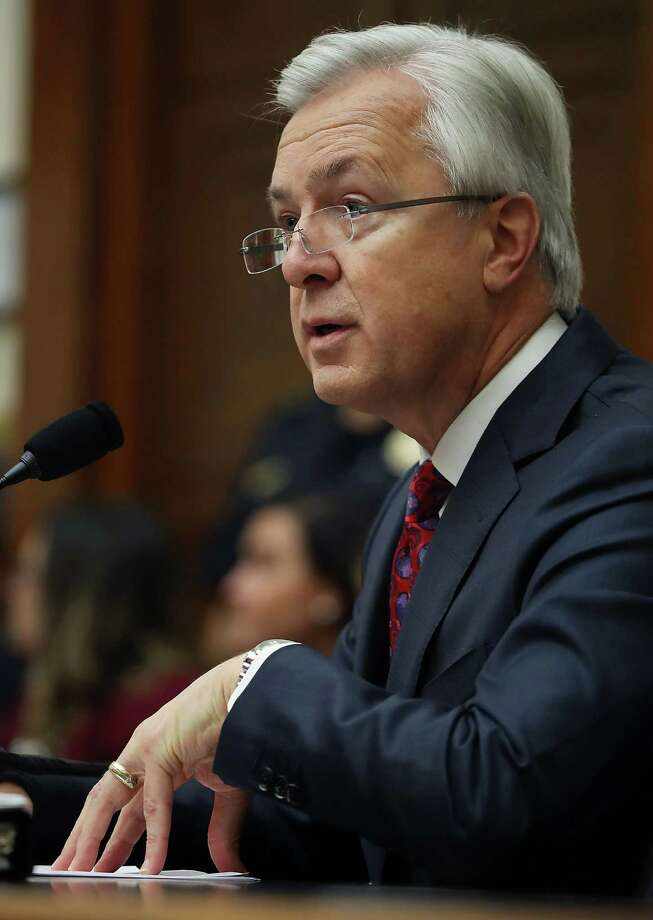 John Stumpf, chairman and CEO of Wells Fargo, testifies before the House Financial Services Committee on Thursday. Stumpf faced more bipartisan outrage from the House Financial Services Committee, following a grilling he received last week from a Senate panel. Photo: Mark Wilson /Getty Images / 2016 Getty Images