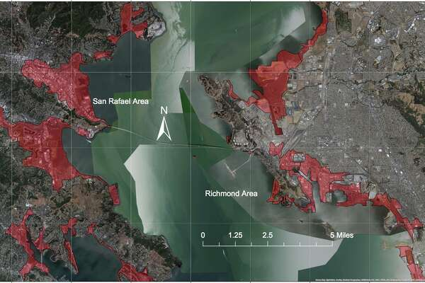 This is a map of the extent of a tsunami caused by a major subduction zone earthquake. The edge of the coloration is where the water depth reaches zero because of the land elevation and dissipation of the wave energy. The map was created to help design engineers get an initial understanding of what areas should be prepared for a major tsunami. Specific building requirements are given by the new building code standard ASCE 7-16 for such threatened areas developed by the American Society of Civil Engineers.