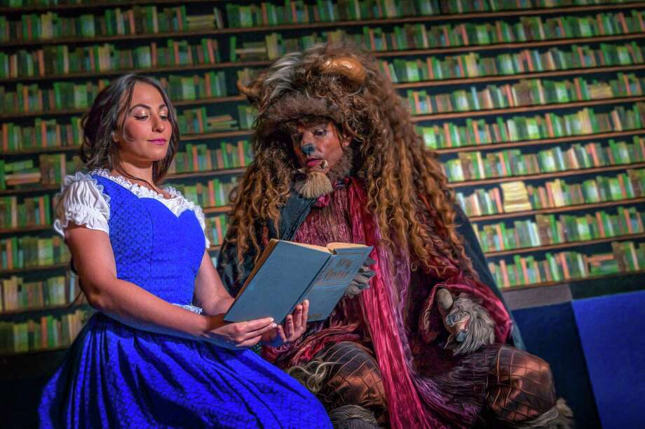 "Carlye Gossen (from left) and Jeff Jeffers play the title roles in ""Beauty and the Beast"" at The Playhouse San Antonio. Photo: Courtesy Daniel Baumer"