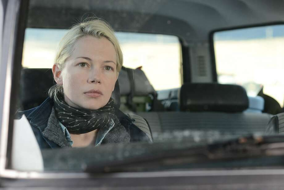 "Michelle Williams, above, in ""Certain Women,"" directed by Kelly Reichardt, right, seen on one of the film's sets. Photo: IFC Films"