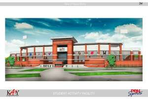 A computer rendering of the proposed second Katy ISD stadium.