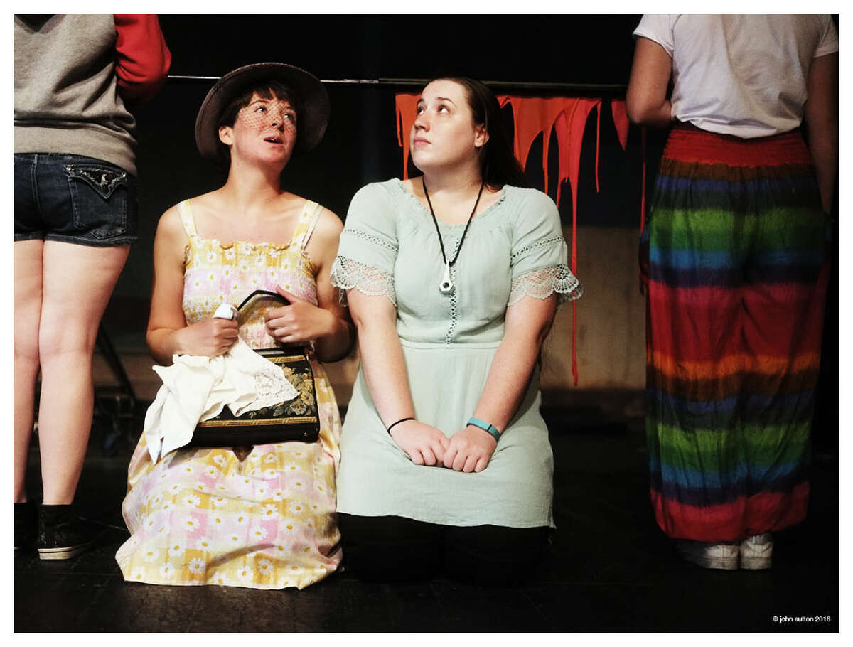 Katherine Danforth as Mrs. Bumbrake and Kyra Fitzgerald as Molly Aster in