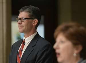 Albany Mayor Kathy Sheehan appointed Joshua Farrell to fill the city court judgeship that will become vacant when Judge Thomas Keefe leaves office at the end of the month. (Skip Dickstein / Times Union)