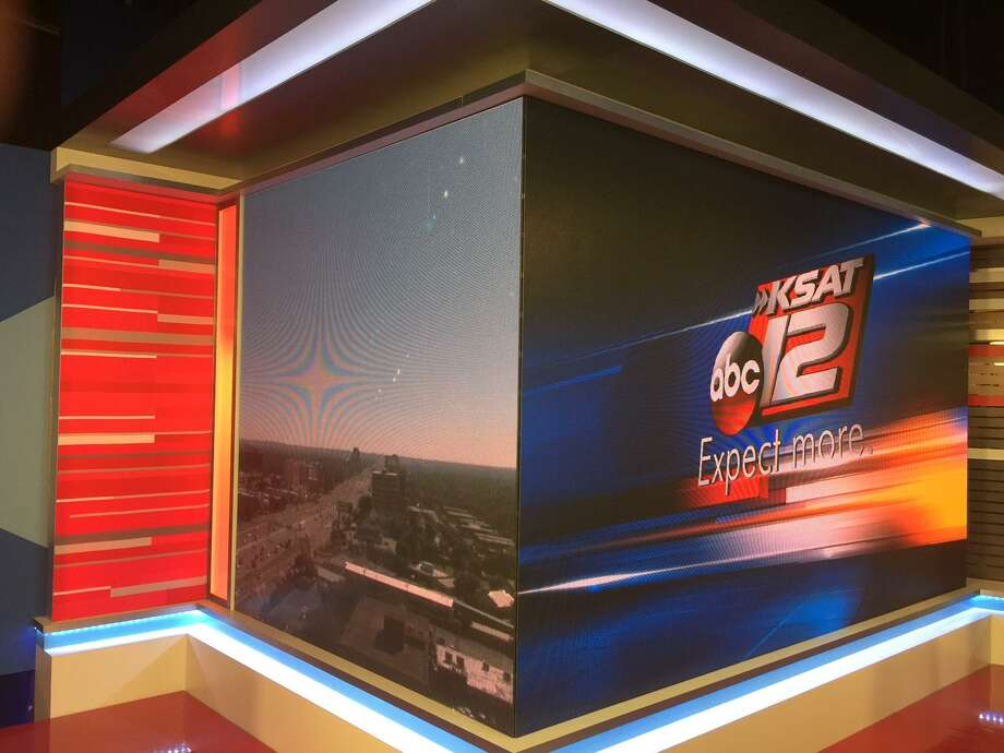 KSAT is intent on keeping the look of the new set and media center under wraps, but did provide this sneak-peek of one of its bright corners. Photo: KSAT