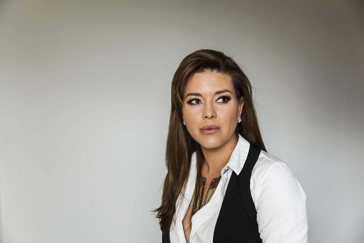 FILE -- A portrait of Alicia Machado, who won the Miss Universe pageant in 1996, in Los Angeles, May 6, 2016. For 20 years, Machado has lived with the agony of what Donald J. Trump did to her after she won the Miss Universe title: shame her, over and over, for gaining weight. On Monday night (Sept. 26, 2016), Hillary Clinton turned Machado�s pain into a potent political weapon on the biggest possible stage. (Emily Berl/The New York Times)