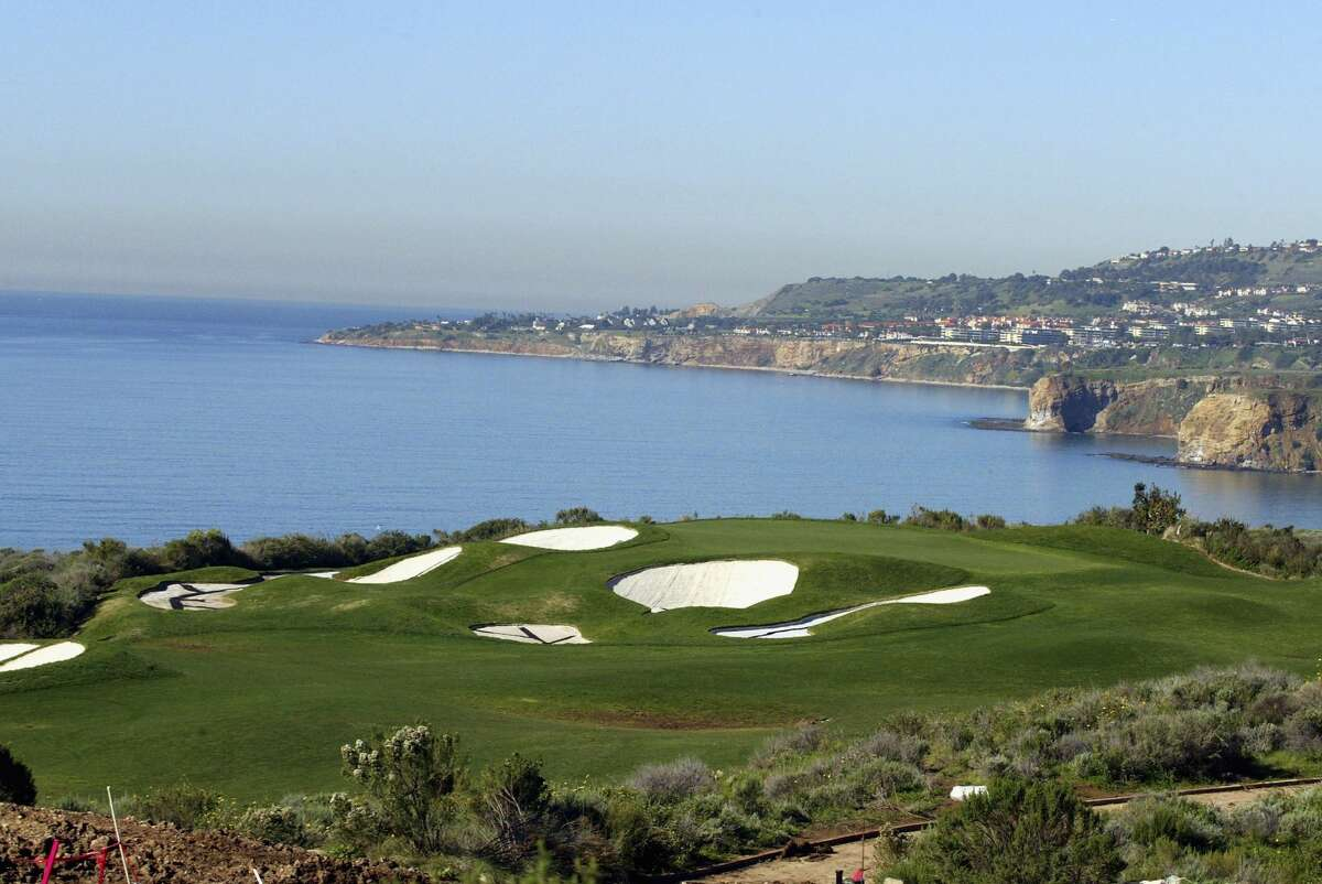 The Trump National Golf Club is seen on January 14, 2005 in Rancho Palos Verdes, California. The golf course is part of a development which offers homes starting at $6 Million.