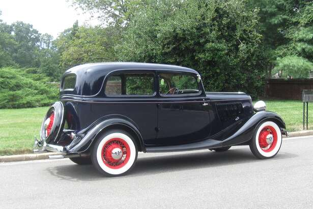 Both sides of the engine hood are ventilated by 23 louvers to help cool the 221-cubic-inch, 75-horsepower V-8 engine.