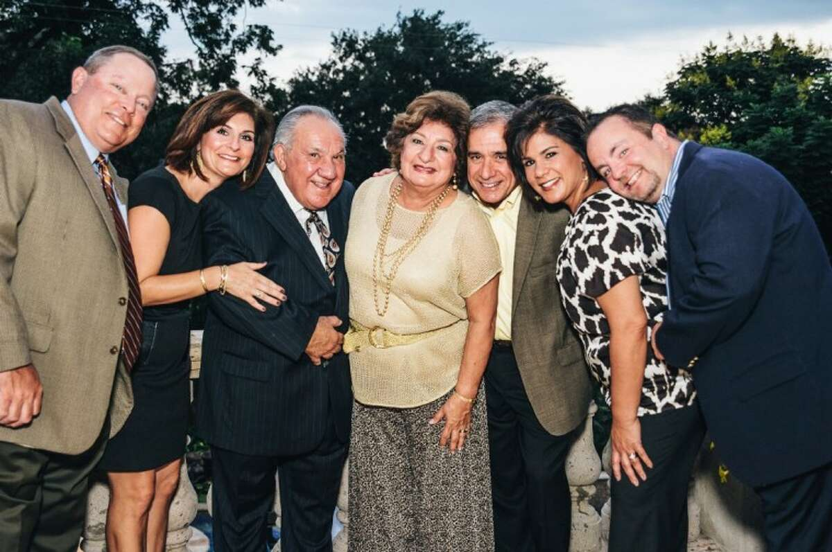 The Avioli family were in attendance to honor Councilman Jim Avioli Sr. and his wife Dee, in center, at the Wine and Tapas Gala to benefit PATRONS for Bellaire Parks on Oct. 6.