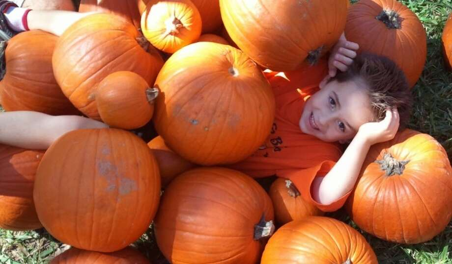 Fun fall photo ops are one of the many reasons to visit the Nature Discovery Center's Pumpkin Patch fall festival in Russ Pitman Park Oct. 20-21.