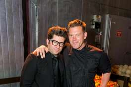"Billy Harris and Tyler Florence at the SF-Marin Food Bank's annual ""One Big Table"" gala."