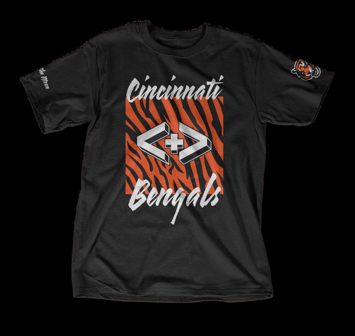 Walk the Moon designed the shirt for the Cincinnati Bengals