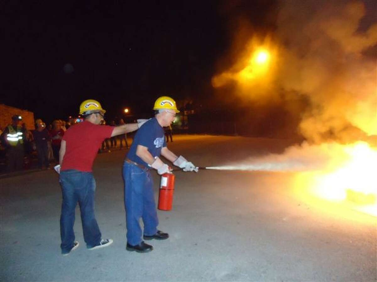 Fire suppression is one of the highlights of CERT training.