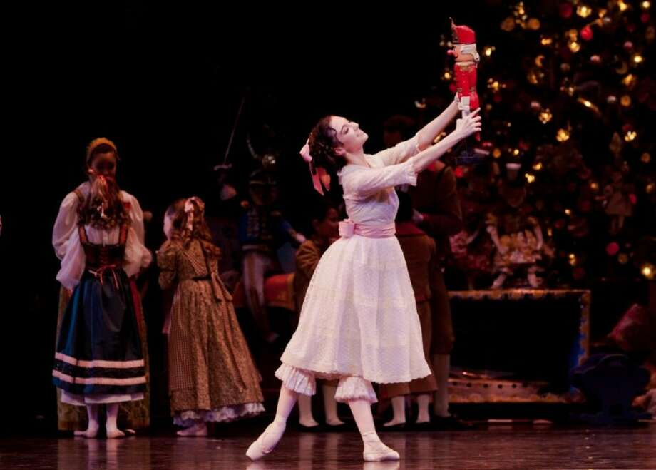 "Emily Bowen performs as Clara in the ""The Nutcracker"" by Houston Ballet, which opens for 37 performances beginning Nov. 23. Photo: Amitava"