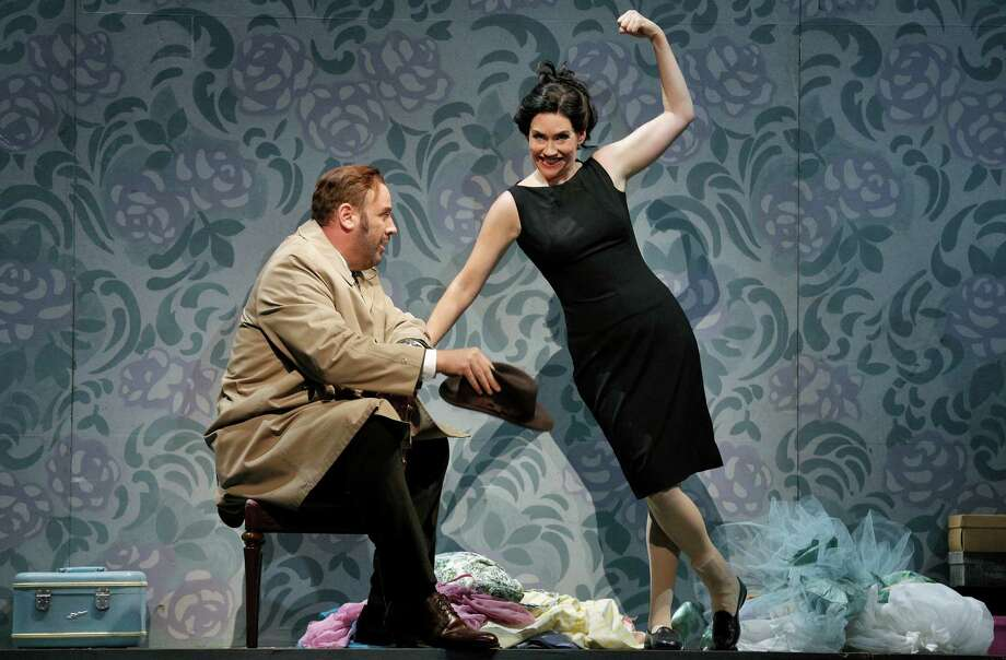 "Lucas Meachem as Dr. Malatesta and Heidi Stober as Norina in Donizetti's ""Don Pasquale."""