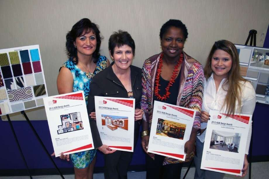 HCC interior design students win big at 2012 ASID Design Awards. Student winners were (from l to r) Rima Nasr, June Cuming, Jessica Pearsall and Virginia Villalobos.
