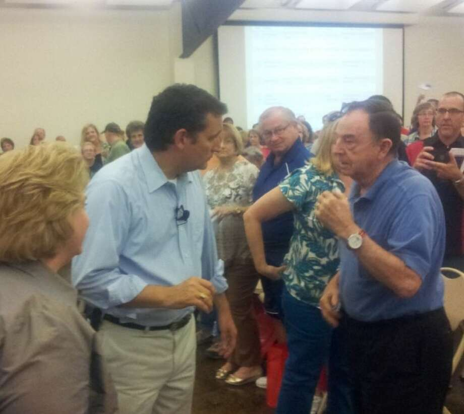 U.S. Senator Ted Cruz answers questions at the Kingwood Tea Party, where he was the headlining speaker on Constitution Day, Aug. 19, 2013.