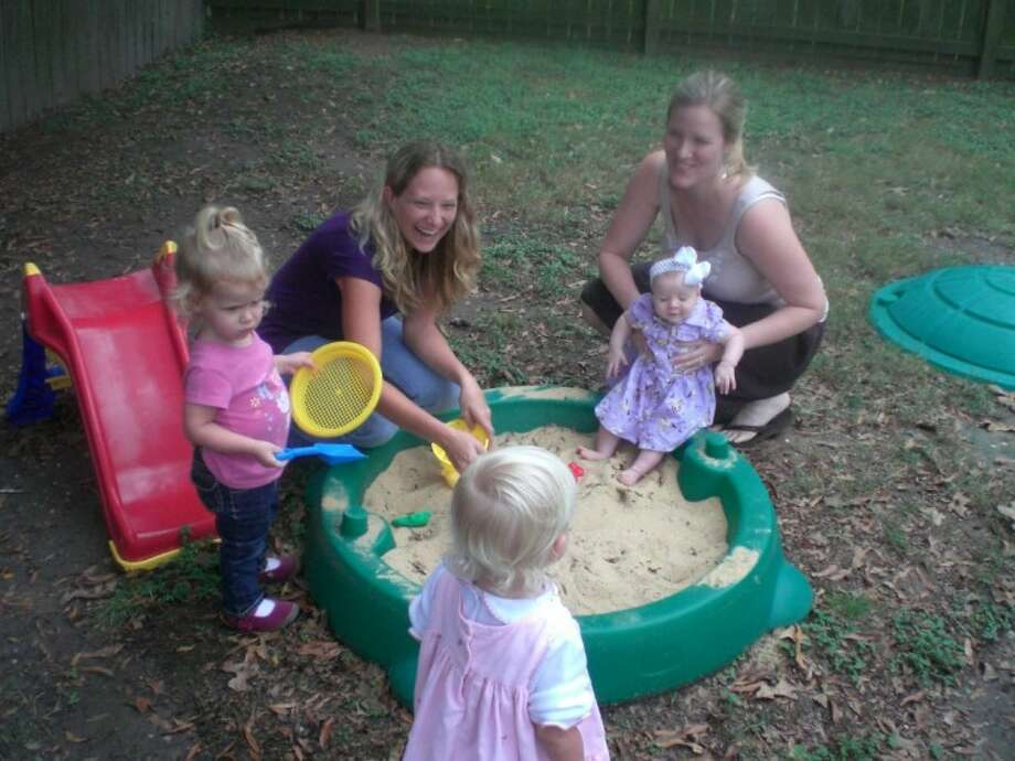 Noleah Cole and her friend, Sarah Demaree, hope many more stay-at-home moms and their children will soon join them at the Kingwood MOMS Club for play dates, babysitting co-ops, fun outings and activity groups.