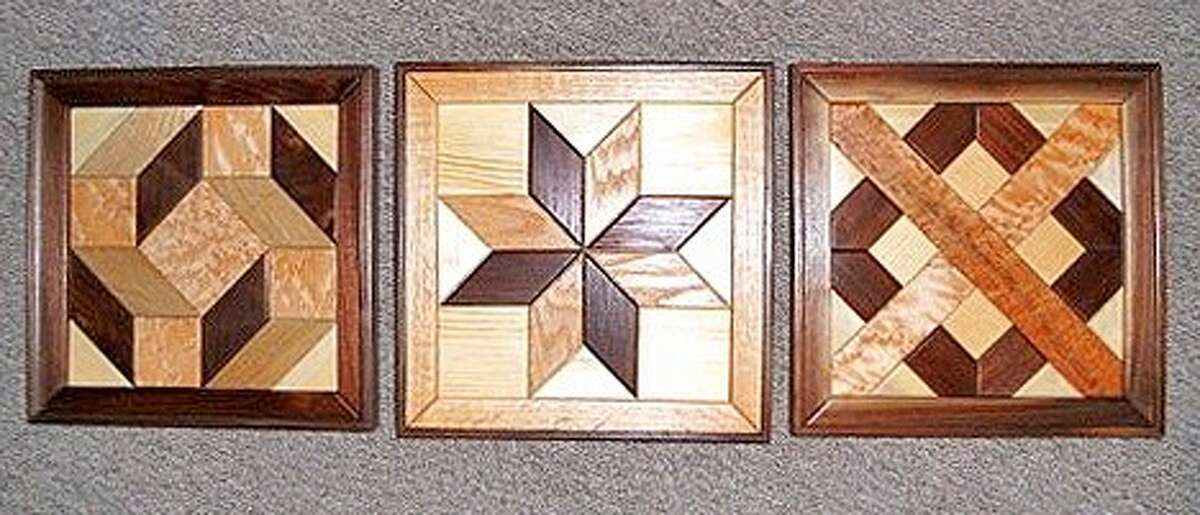 Wooden quilt blocks that will be on sale at the Texas Mennonite Sale & Auction for World Relief on Nov. 10.