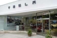 The new Tesla gallery on Greenwich Avenue in Greenwich.