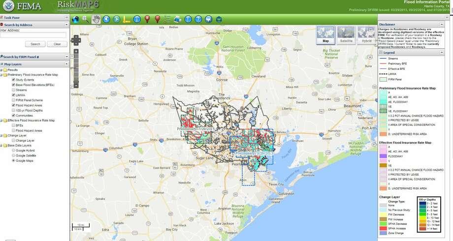 FEMA Floodrisk Map Shows Nearly Buildings In Special Flood - Houston flood plain map