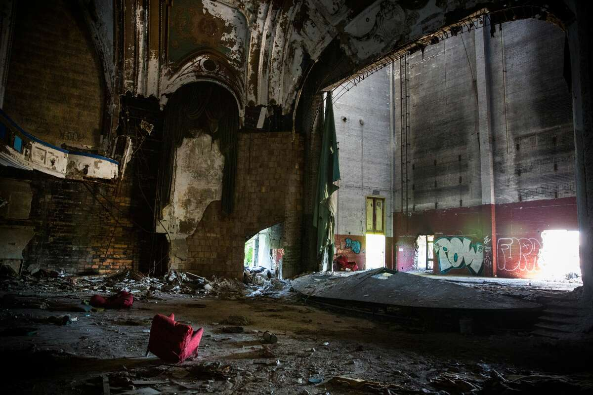 Eastown Theatre in Detroit Since 2004 it has been abandoned and fallen into disrepair.