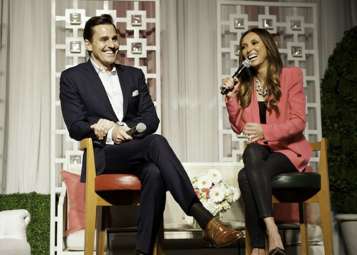 Bill and Giuliana Rancic speak during the recent Memorial Hermann In the Pink of Health Luncheon.