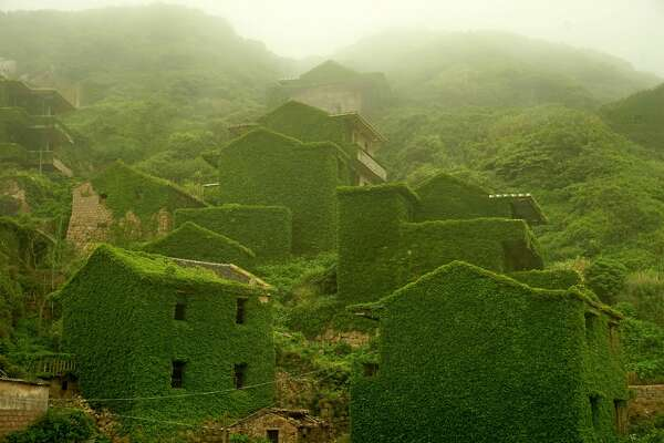 Shengshan Island, China    More than 2,000 fishermen  once lived on the Houtouwan island, but in the early 1990s residents moved away because of lack of education and food delivery.