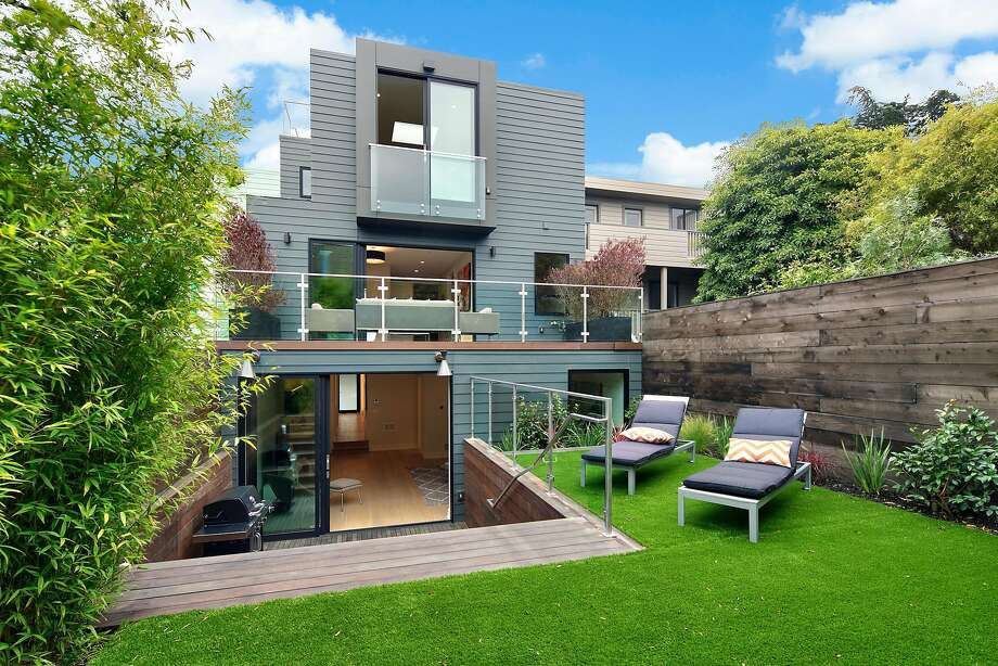 The home's private backyard backyard is connected to the lower level. Photo: Circle Visions