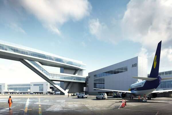 This rendering shows another exterior view of the planned new international arrivals terminal at Sea-Tac Airport. The new terminal will have room for more wide-body aircraft to handle increasing international traffic coming to the region. The port plans to break ground on the new terminal in the first quarter of 2017, with a planned opening for late 2019.