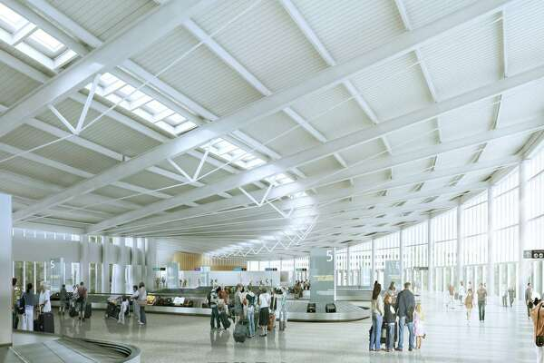 This rendering shows what the interior of the new international arrivals terminal planned for Sea-Tac Airport will look like. The port plans to break ground on the new terminal in the first quarter of 2017, with a planned opening for late 2019.