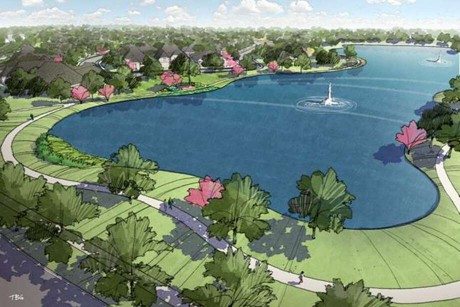 New patio homes planned for the Imperial master-planned community in the heart of Sugar Land will offer picturesque views of a lake and winding walking paths.