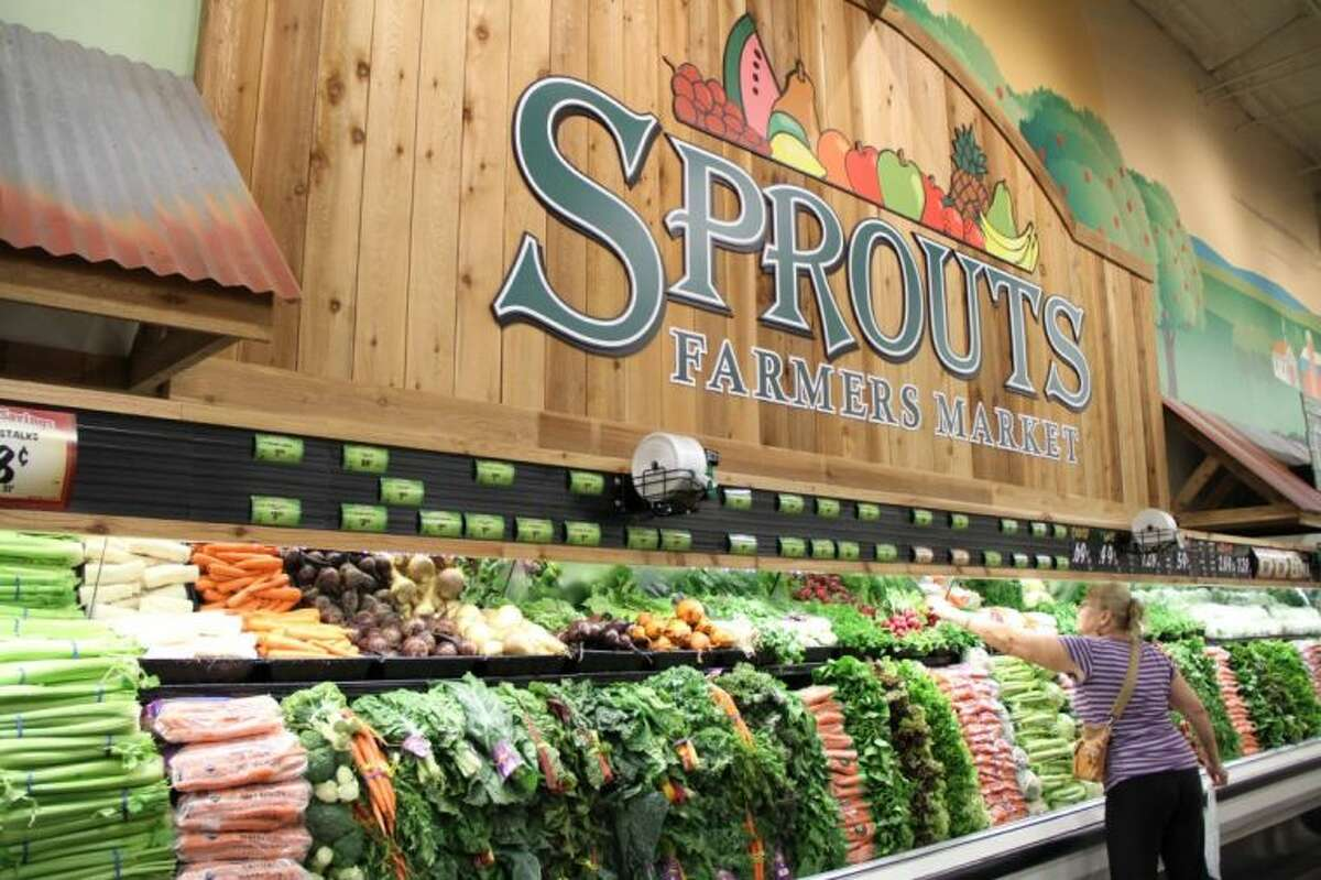 Fresh fruits and vegetables are stacked high for consumers at the Sprouts Farmers Market at at 7055 Highway 6 North in Copperwood Village.