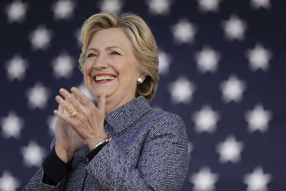 Democratic presidential candidate Hillary Clinton stands for her introduction during a campaign stop in Des Moines, Thursday, Iowa, Sept. 29, 2016. (AP Photo/Matt Rourke) Photo: Matt Rourke, Associated Press