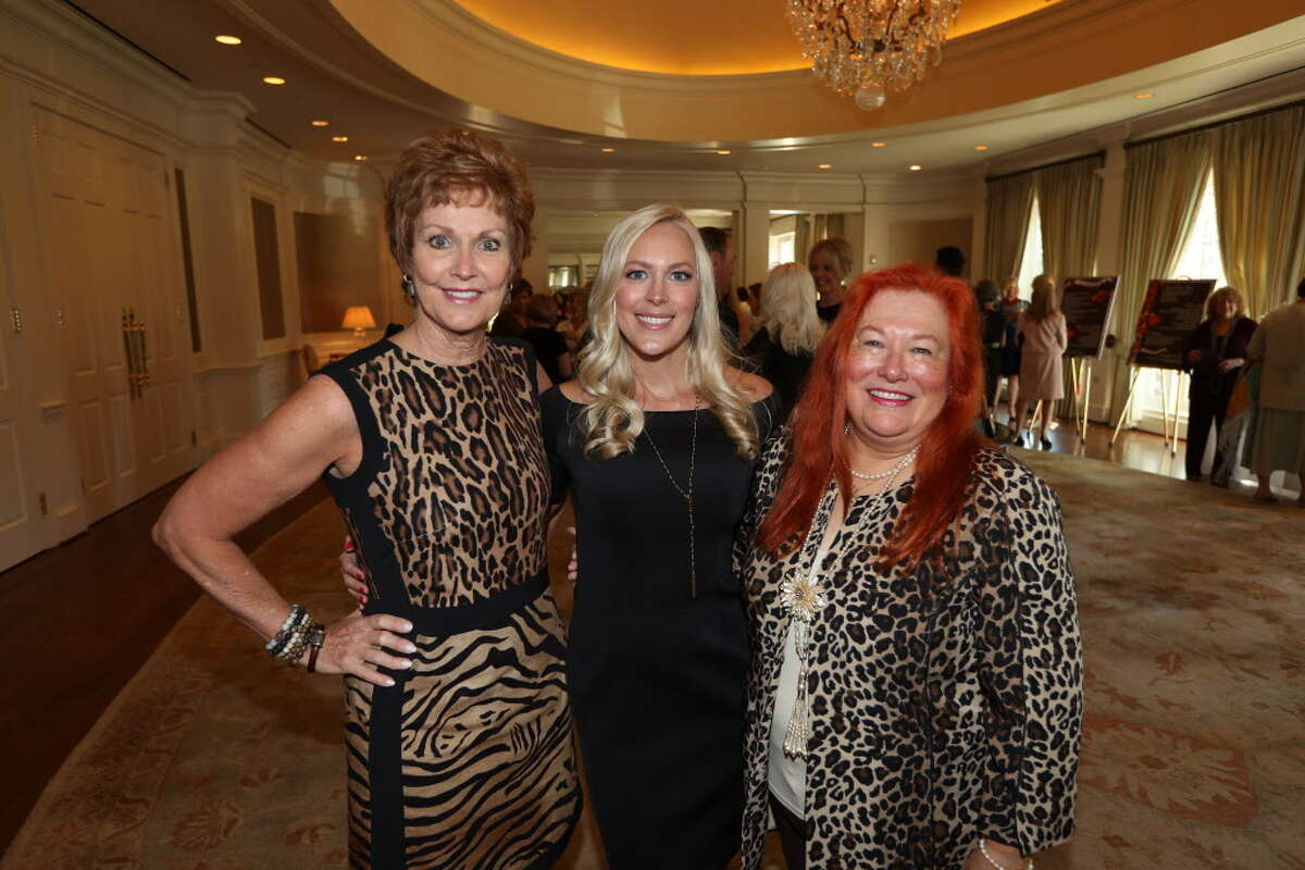 Betty Puryear, Jenny Price and Linda Williams Hall during the 25th annual Mary Jo Peckham Luncheon and Fashion Show Thursday, Sept. 28, 2016, in Houston.