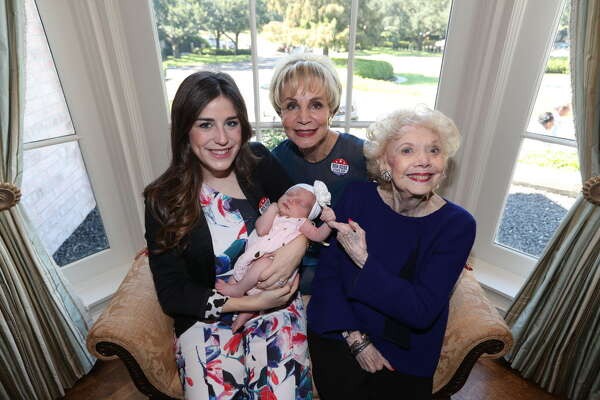 Laura Max Rose, baby Selma Rose, Leisa Holland Nelson and Phyllis Holland the honorees for the 25th annual Mary Jo Peckham Luncheon and Fashion Show Thursday, Sept. 28, 2016, in Houston.