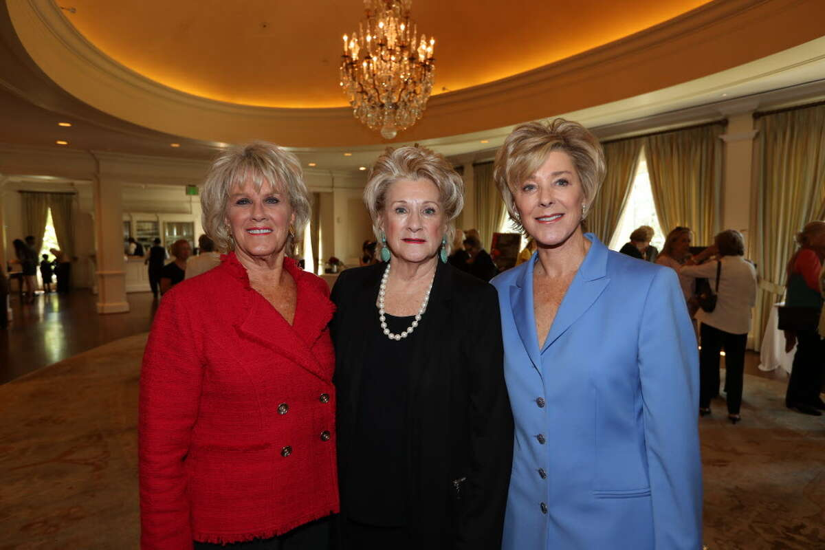 Liz Jameson, Anne Berry and Leila Gilbert during the 25th annual Mary Jo Peckham Luncheon and Fashion Show Thursday, Sept. 28, 2016, in Houston.