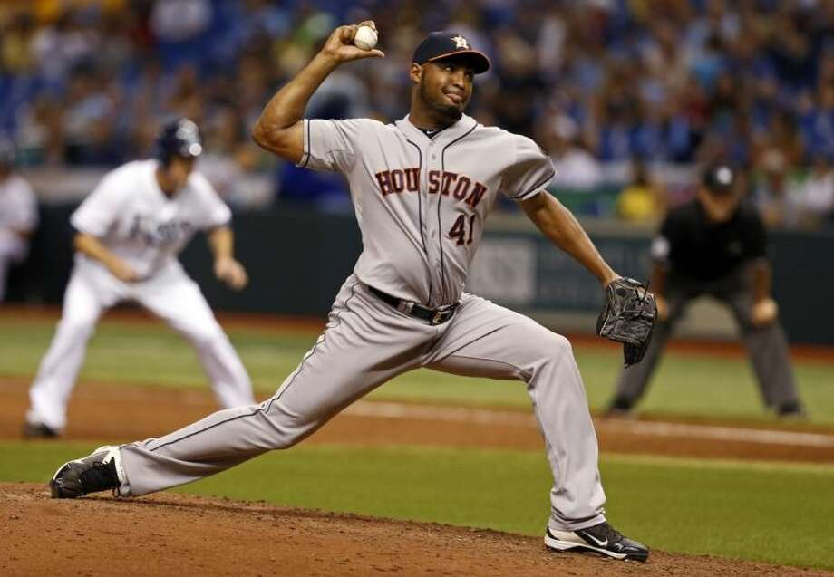 Houston Astros relief pitcher Jose Veras was traded to the Detroit Tigers on Monday. Veras has 19 saves this season.