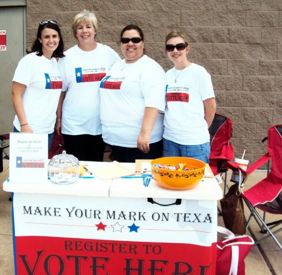 Liberty County attorneys Lameka Trahan, Jennifer Bergman, Jaime Carter, Farrah Harper and Karen McNair worked diligently to urge local high school seniors and others to register to vote. Photo: Submitted Photo