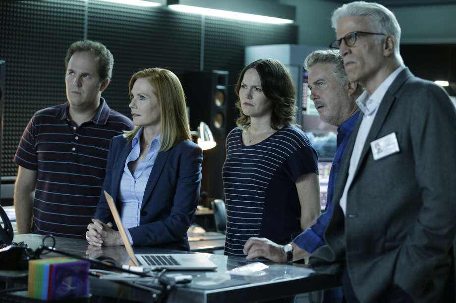 """It is great television, but CSI doesn't always reflect the real science. In this image released by CBS, David Berman, from left, Marg Helgenberger, Jorja Fox, William Petersen and Ted Danson appear in a scene from the 2-hour series finale of """"CSI: Crime Scene Investigation"""" Photo: Sonja Flemming /Associated Press / CBS ENTERTAINMENT"""