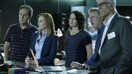 """It is great television, but CSI doesn't always reflect the real science. In this image released by CBS, David Berman, from left, Marg Helgenberger, Jorja Fox, William Petersen and Ted Danson appear in a scene from the 2-hour series finale of """"CSI: Crime Scene Investigation"""""""