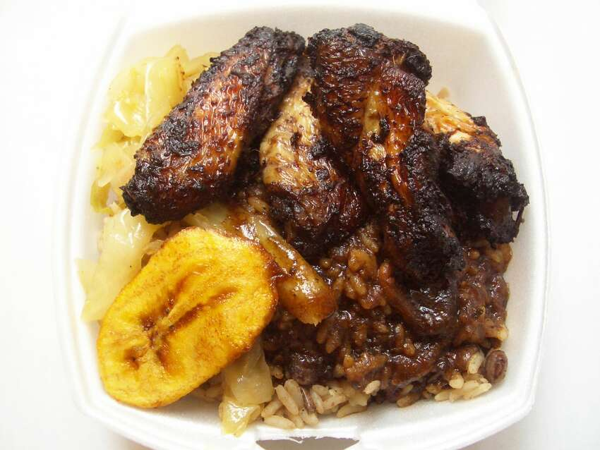 Golden Krust Sure, hamburgers are good, but how amazing does this jerk chicken and rice look? The small New York-based chain specializes in Jamaican food, ranging from patties to braised oxtail. There's one location in Hartford, but it'd be nice to have one down on the shoreline.