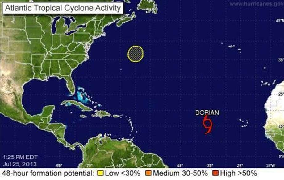 Tropical Storm Dorian not expected to become a tropical cyclone