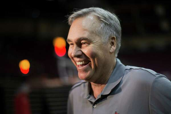 Houston Rockets head coach Mike D'Antoni talks to the press during the team's first day of practice, Saturday, Sept. 24, 2016, in Houston. ( Marie D. De Jesus / Houston Chronicle )
